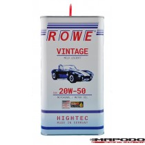 Rowe Hightec Vintage SAE 20W-50 Mild Legiert 5L Metall